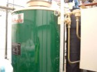 A steam boiler with Combustion Efficiency and Fuel-to-Steam Efficiency