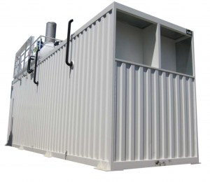 The outside of a Clayton Containerised Boiler Room